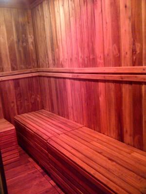 sauna room wood