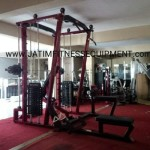 smith mesin double lat pull down lat rowing